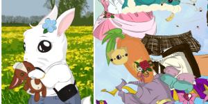 Oblékání malého králíčka