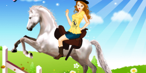 Hra - Horse jumping dress up