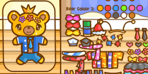 Hra - Glitter Bear Dress Up