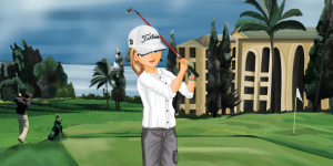 Hra - The Golfer Gilrs Dress Up Game
