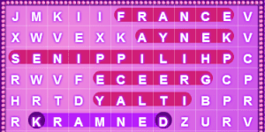 Hra - Word Search - Countries