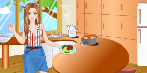 Fashionable Cooking Girl Dress Up