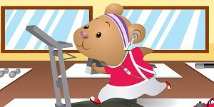 Exercise Hamster Dress Up