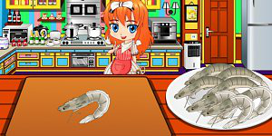 Spicy corn and shrimp salad