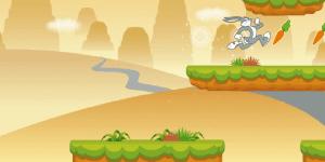 Bugs Bunny Hopping Carrot Hunt