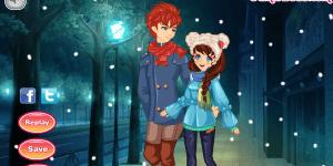 Snow Night Couple