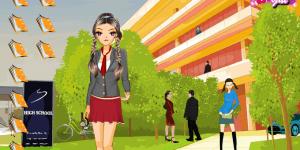 Funky School Girl