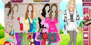Hra - Barbie Spring Style Dress Up