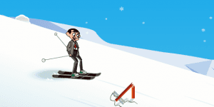 Hra - Mr Bean Skiing Holiday