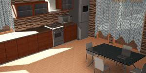 3D Kitchen Decoration