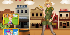 Hra - Barbie Western Princess Dress Up