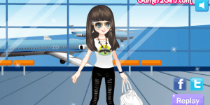 The Fashion Girl In The Airport