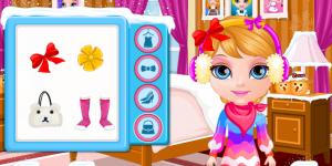 Hra - Baby Barbie Winter Braids