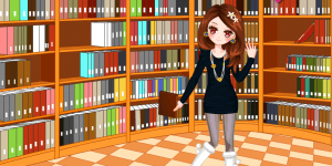 Girl In Library