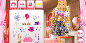 Hra - Barbie`s Valentine`s Patchwork Dress