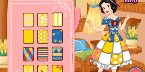 Snow White Patchwork Dress