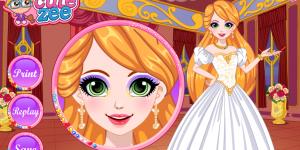 Rapunzel Glittery Makeup