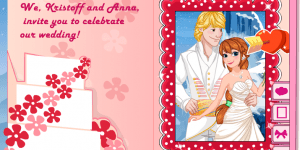 Hra - Princess Anna Wedding Invitation