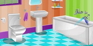 Barbie Bathroom Cleaning