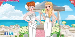 Elsa And Anna Bridemaids Dresses