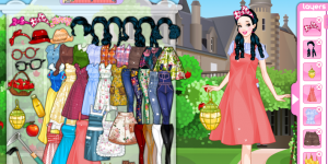 Hra - Snow White Apple Farmer Dress Up