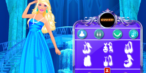 Barbie At Frozen Castle
