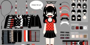 Hra - Dress-up Emo girl