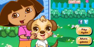 Dora Cute Puppy Caring