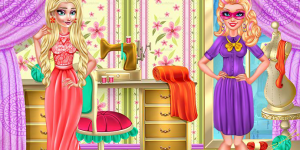 Hra - Winter Fashion Elsa and Super Barbie