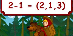 Hra - Máša a medvěd: Počítání