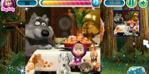 Hra - Máša a medvěd puzzle