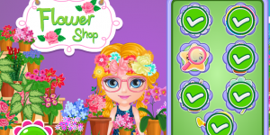 Hra - Baby Barbie Flower Shop Slacking