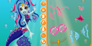 Monster High Glowsome Ghoulfish Lagoona Blue