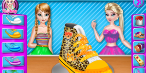Hra - Elsa And Anna Shoe Decor