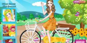 Fashionable Bike Rider