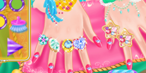 Hra - Ice Princess Nail Design