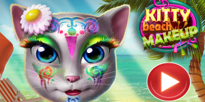 Hra - Kitty Beach Makeup