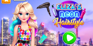 Hra - Eliza's Neon Hairstyle