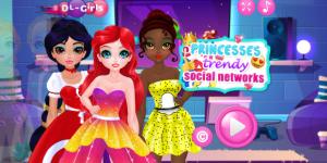 Hra - Princess Trendy Social Networks
