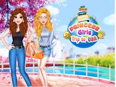 Hra - Princess Girls Trip to USA