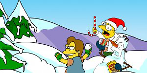 Simpsons Snow Fight