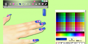 Apple-leaf: Nail simulation
