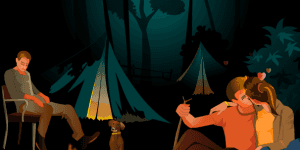 Camp Fire Kiss