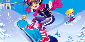 Pro Snowboarder Girl