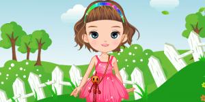 Cute Doll On Lawn