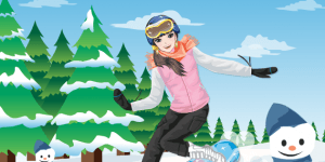 Hra - Snowboard Girl Dress Up
