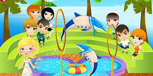 Play with dolphins