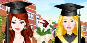 Barbie and Ellie Graduation Day Prep