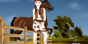 Reba Cow Girl Dress Up Game
