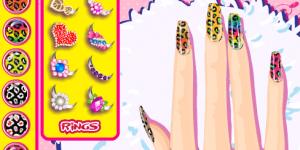 Leopard Grain Nails Fashion Diy